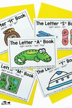 Alphabet Emergent Readers and Activities for our youngest learners. Perfect bundle for prek and kindergarten students. Teaching Sight Words, Sight Word Practice, Teaching The Alphabet, Sight Word Games, Alphabet Activities, Kindergarten Activities, Early Years Classroom, Guided Reading Groups, Teacher Books