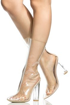 Buy Clear Vinyl Calf Length Translucent Heels with cheap price and high quality from Cicihot Heel Shoes online store which also sales Stiletto Heel Shoes,High Heel Pumps,Womens High Heel Shoes,Prom Shoes Clear Heel Boots, Clear Shoes, High Heel Pumps, Pumps Heels, Stiletto Heels, Spring Shoes, Summer Shoes, Prom Shoes, Dress Shoes
