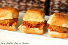 Just Another Day in Paradise: Slow Cooker Saturday: Hawaiian Chicken Sliders