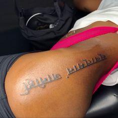 Side Thigh Tattoos Women, Girl Thigh Tattoos, Dope Tattoos For Women, Badass Tattoos, Trendy Tattoos, Sexy Tattoos, Hand Tattoos, Top Of Shoulder Tattoo, Shoulder Tattoos For Women