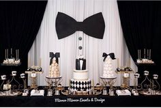 Black and White Party bow tie party