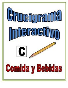 Spanish Interactive Crossword Puzzle: Food and Drink Vocabulary.  Great partner speaking activity.