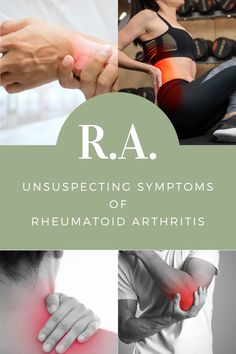 Rheumatoid Arthritis symptoms can be VERY tricky and is often mistaken for other conditions such as sporting injuries. Being aware of rheumatoid arthritis symptoms will help with early detection of the condition. The inflammation caused by rheumatoid arthritis can be debilitating and stop your life in its tracts. Early detection will ensure that you get the best out of rheumatoid arthritis treatments that are available.