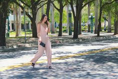 A #blush jumpsuit for the #springtime #fashion #style #ootd