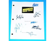 Brooklyn Nine-Nine Signed TV Script Andy Sanberg, Stephanie Beatriz, Terry Crews and more