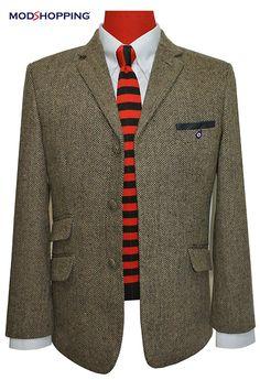 Mod shopping - TWEED HERRINGBONE VINTAGE BROWN BLAZER, £139.00 (http://www.modshopping.com/tweed-herringbone-vintage-brown-blazer/)