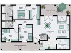Bungalow XXL floor_plans 0 more - Bungalow XXL floor_plans 0 more - Terrace Building, Brick Building, Small House Plans, House Floor Plans, Floor Plan Layout, Home Budget, Types Of Houses, Fort Lauderdale, New Homes