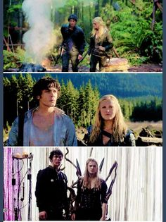 Season 1 to S3. Clarke and Bellamy. Bellarke.