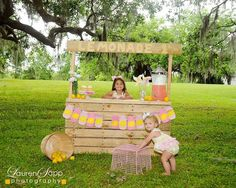 Nothing cuter than a homemade lemonade stand at a LEMONADE PARTY!