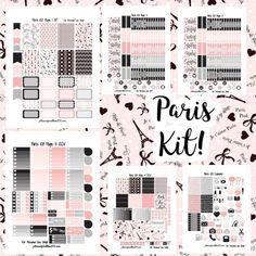 Paris Kit! | Free Printable Planner Stickers