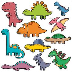 dinosaur illustration Vector illustration of Dinosaurs cartoon characters Art Drawings For Kids, Drawing For Kids, Easy Drawings, Art For Kids, Cartoon Dinosaur, Cute Dinosaur, Easy Dinosaur Drawing, Sheldon The Tiny Dinosaur, Illustration Vector