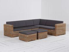 ROUGH-C Loungehoek tuinset 6-delig Old Teak Greywash van ROUGH Furniture