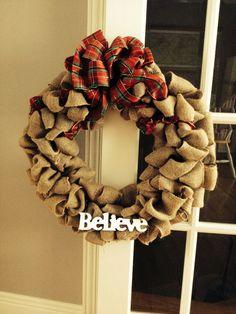 My second DIY burlap wreath!