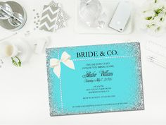 Printable Bride & Co. shower invitation by Glass Slipper Designs. Can be customized for any occasion!