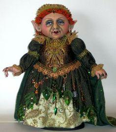 "The Glamour Witch/"" Cloth Doll Pattern By Arley Berryhill /""Gwendolyn"