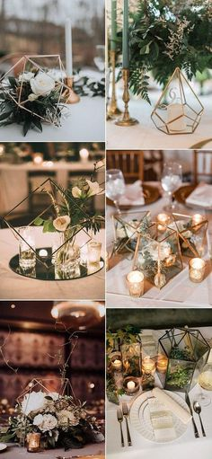 Trending – 20 Industrial Geometric Wedding Centerpieces for 2019 Modern Decoration modern wedding decor Modern Wedding Centerpieces, Wedding Flower Arrangements, Flower Centerpieces, Flower Decorations, Centerpiece Ideas, Terrarium Wedding Centerpiece, Table Decorations, Centrepieces, Geometric Wedding