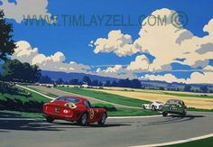 Summer at Goodwood - for the LH wall above the desk?
