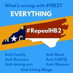#RepealHB2 #HB2 #WeAreNotThis