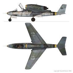 Heinkel He 162D Proyecto secreto de la Luftwaffe