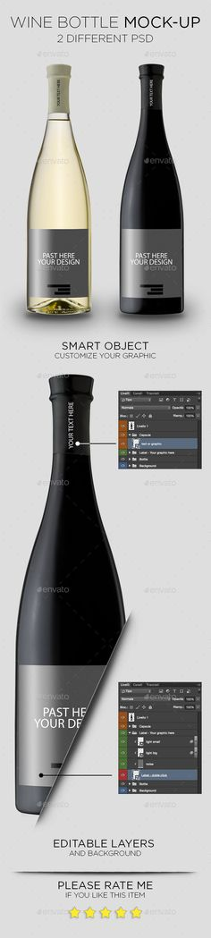 Wine Bottle Mock-Up #design Download: http://graphicriver.net/item/wine-bottle-mockup/11560086?ref=ksioks