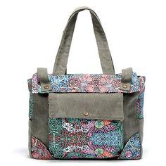 6126086164 Hot-sale designer Brenice Vintage Canvas Casual Floral Shoulder Bag Handbag  For Women Online -