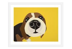 I really love this for a little boys room/nursery. One Kings Lane - The Modern Home - Rankin Willard, Beagle