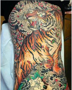 Credit to Colin Baker at State of Grace Tattoo (I'm seriously considering his work) Japanese Tiger, Japanese Art, Grace Tattoos, Colin Baker, Sick Tattoo, State Of Grace, Octopus, Style, Japan Art