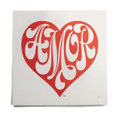 amor print by house industries.