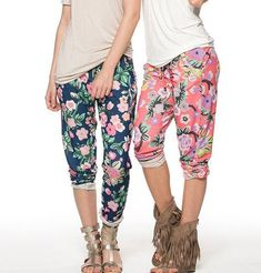 7c1816dce25 Floral Summer Pants - 2 Colors! Trendy Clothing Stores