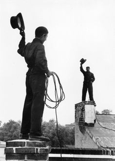Chimney Sweepers - Our chimney sweeping technique is a bit more modern these days!