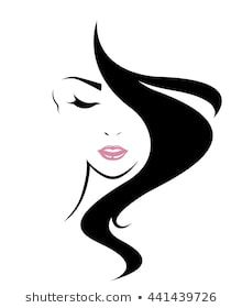 long hair style icon, logo women face on white background, vector Silhouette Art, Woman Silhouette, Pencil Art Drawings, Art Sketches, Female Face Drawing, Beauty Logo, Woman Face, Girl Face, Face Art