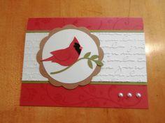 Stampin Up Handmade Card Cardinal Any Occasion Christmas