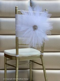 Chair coverswedding chair cover flower chair por FloraRosaDesign