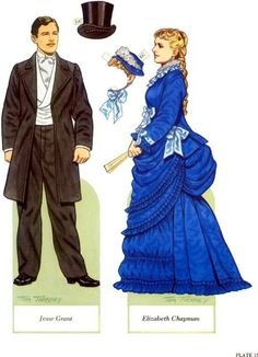 Ulysses S. Grant and his Family Paper Dolls by Tom Tierney  - Dover Publications, Inc.,1995: Plate 15 (of 16)