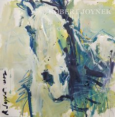 abstract expressionist horse painting