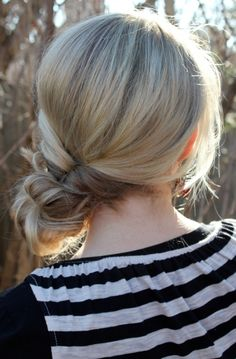 Messy Bun using side topsy tail - Twist Me Pretty