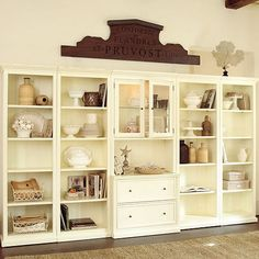 """Tuscan File Console - an arrangement of the various pieces in the """"Tuscan"""" collection (would not get the white though!)"""