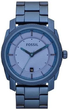 805ee140935 Mens Watch Fossil FS4707 Blue Stainless Steel Quartz Blue Tone Dial Date  Displa Mens Watch Fossil