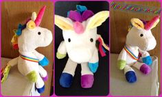 Justine made this fabulous unicorn from my Hadley the Horse pattern!