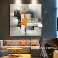 Modern Abstract Gray Nordic Style Acrylic Original Canvas Oil Painting Wall Art Pictures for Living Abstract Tree Painting, Abstract Canvas Art, Oil Painting On Canvas, House Painting, Painting Frames, Canvas Wall Art, Abstract Portrait, Portrait Paintings, Acrylic Canvas