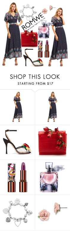 """Romwe"" by jasmina-ishak ❤ liked on Polyvore featuring Charlotte Olympia, Nancy Gonzalez, Teeez, Lancôme, ChloBo and 1928"