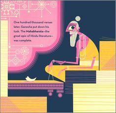 0_9de5e_706ee994_orig (962×933) The Mahabharata, Ganesha, Indian Art, Writing A Book, Mythology, Verses, Sweet Tooth, Om, Literature