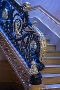 # spiral staircases Wrought Iron Staircase, Staircase Railings, Grand Staircase, Stairways, Spiral Staircases, Railing Design, Staircase Design, Luxury Interior, Interior And Exterior