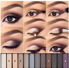 kahverengi göze mor göz farı uygulaması
