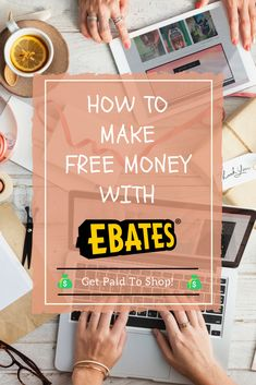Get Paid to Shop! Make Money Online With Ebates! Make Money Fast, Make Money Blogging, Make Money From Home, Money Tips, Money Saving Tips, Make Money Online, Mad Money, Free Money, Get Paid To Shop