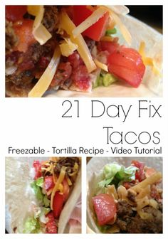 21 Day FixTacos- Family friendly meal turned 21 Day Fix friendly meal.