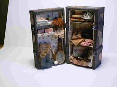 return to homepage Dollhouse Miniatures, Trunks, Lunch Box, Traveling, Drift Wood, Viajes, Doll House Miniatures, Trips, Travel
