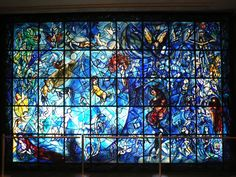 Chagall Stained-Glass Window UN; Photo by Steven Pinker #Stained_Glass #Chagall #Steven_Pinker