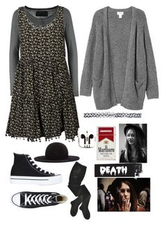 """~×Violet Harmon Style×~"" by xstupidnerdx ❤ liked on Polyvore featuring True Religion, NOVA, Monki, Converse, PhunkeeTree, HYD, Kiki de Montparnasse and Wet Seal"