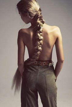 Alisa Ahmann by Camilla Akrans for Vogue Italia April 2015 | The Fashionography